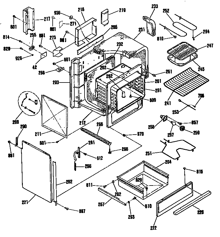 Ge Gas Range Parts Diagram
